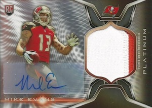 2014 Topps Platinum Football Autographed Rookie Refractor Patch Mike Evans