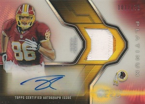 2014 Topps Platinum Football Autographed Veteran Refractor Patch