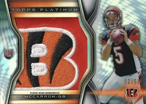 2014 Topps Platinum Football Rookie Patches