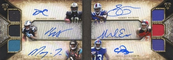 2014 Topps Triple Threads Football Autographed Relic Double Combos