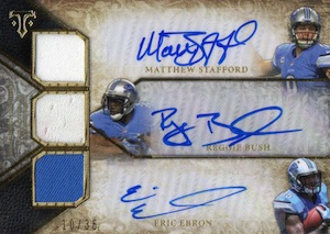 2014 Topps Triple Threads Football Autographed Relic Trios