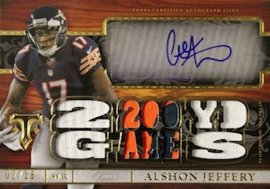 2014 Topps Triple Threads Football Autographed Relics Alshon Jeffrey