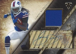 2014 Topps Triple Threads Football Rookie Autographed Relics Sammy Watkins