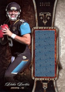 2014 Topps Triple Threads Football Rookie Jumbo Relics Bortles