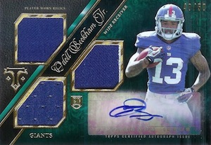 2014 Topps Triple Threads Odell Beckham RC Autographed Jersey Emerald Parallel