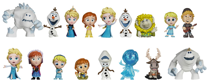 2015 Funko Frozen Mystery Minis lineup