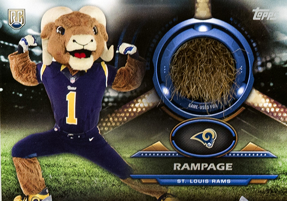 St. Louis Rams Mascot Undergoes Haircut for Topps Relic Cards 1