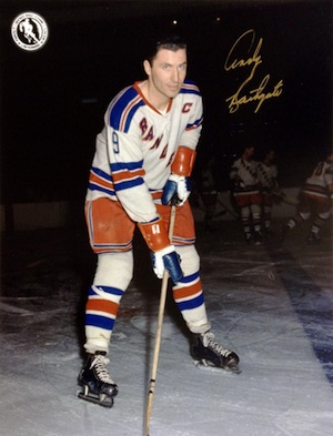 Andy Bathgate New York Rangers Signed Photo