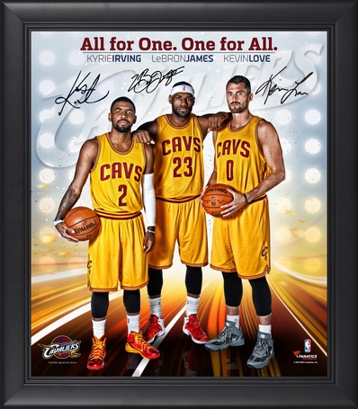Cleveland Cavaliers Big Three Framed Photo