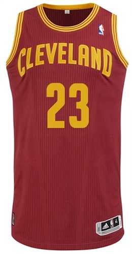 Cleveland Cavaliers LeBron James Authentic Jersey