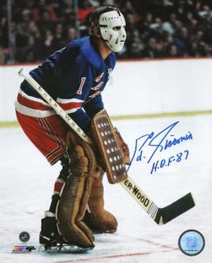 Eddie Giacomin New York Rangers Signed Photo