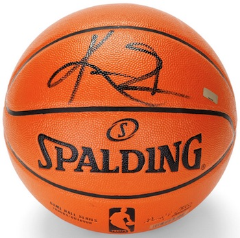 Kyrie Irving Cleveland Cavaliers Signed Basketball