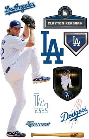 Los Angeles Dodgers Fathead Kershaw