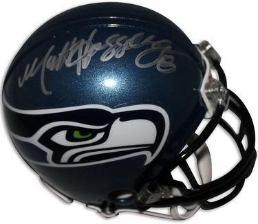 Matt Hasselback Seattle Seahawks Signed Mini-Helmet