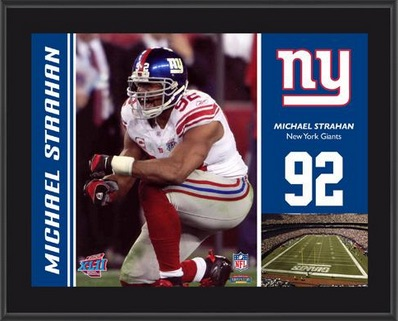 Michael Strahan New York Giants Plaque