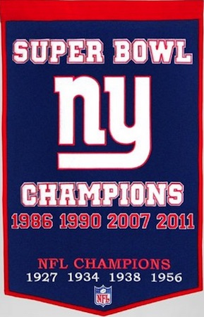 New York Giants Dynasty Banner