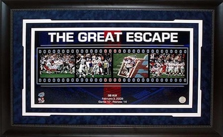 New York Giants Super Bowl XLII Framed Filmstrip