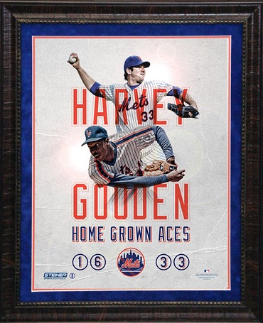 New York Mets Framed Home Grown Aces