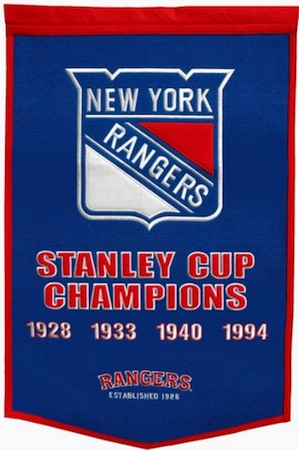 New York Rangers Dynasty Banner