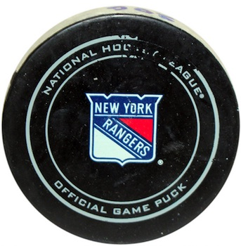New York Rangers Game-Used Puck