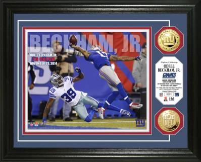 Odell Beckham Jr's One-Handed TD Catch Signed Memorabilia Selection Continues to Expand at All Price Points 14