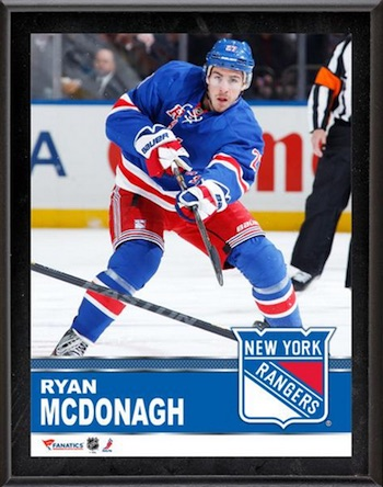 Ryan McDonagh New York Rangers Plaque