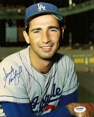 Sandy Koufax Los Angeles Dodgers Signed Photo