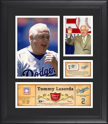 Tommy Lasorda Los Angeles Dodgers Framed Collage