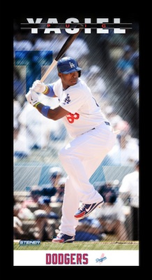 Yasiel Puig Los Angeles Dodgers Framed Wall Art