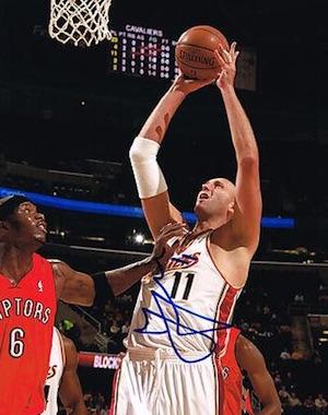 Zydrunas Ilgauskas Cleveland Cavaliers Signed Photo