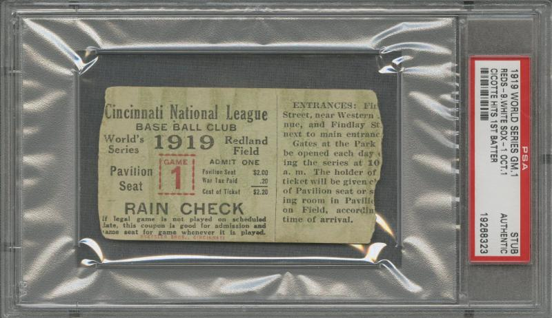 1919 World Series Black Sox Scandal Memorabillia Headed for Auction 5