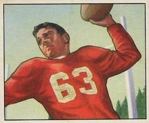1950 Bowman Frankie Albert RC #36