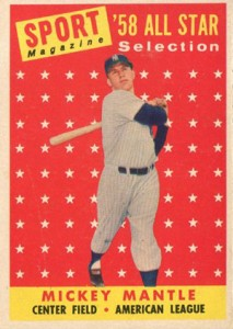 1958 Topps Mickey Mantle 487 All-Star
