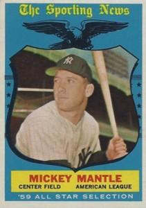 1959 Topps Mickey Mantle 564 All-Star