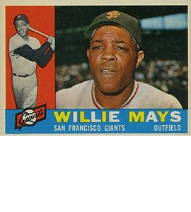 1960 Topps Willie Mays 270x300