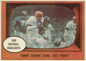 1961 Topps Jim Brown #77 Football Highlights