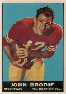 1961 Topps John Brodie RC #59