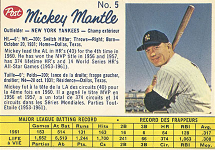 Comprehensive Guide to 1960s Mickey Mantle Cards 58