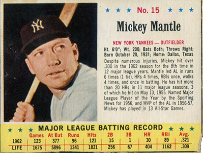 Comprehensive Guide to 1960s Mickey Mantle Cards 86