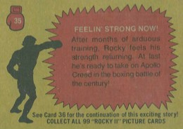 1979 Topps Rocky II Base 35 Back