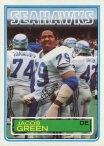 1983 Topps Jacob Green RC #385