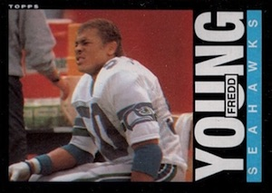 1985 Topps Fredd Young RC #393