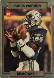1990 Action Packed Rookie Update Chris Warren RC #62
