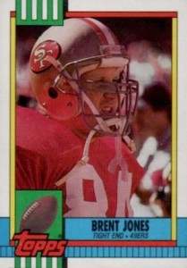 1990 Topps Brent Jones RC #14
