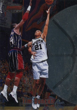 Tim Duncan Rookie Card Gallery and Checklist 1