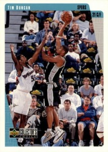 Tim Duncan Visual Rookie Card Guide and Checklist 2