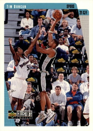 Tim Duncan Rookie Card Gallery and Checklist 2