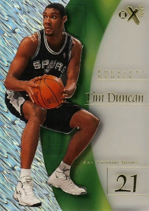 Tim Duncan Rookie Card Gallery and Checklist 3