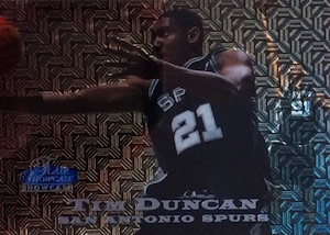 Tim Duncan Visual Rookie Card Guide and Checklist 10
