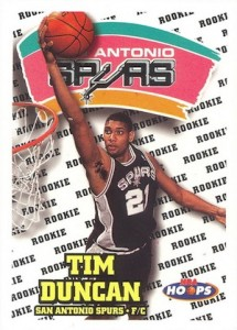 Tim Duncan Visual Rookie Card Guide and Checklist 12